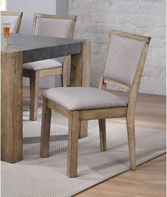 Loon Peak Set Of 2 Dining Room Side Chair With Padded Seat And Back Cushion In Rustic Oak Finish Loon Peak
