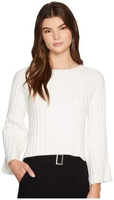 J.o.a. Side Slit Flare Sleeve Sweater Women's Sweater
