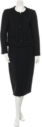 Chanel Wool Bouclé Skirt Suit $895 thestylecure.com