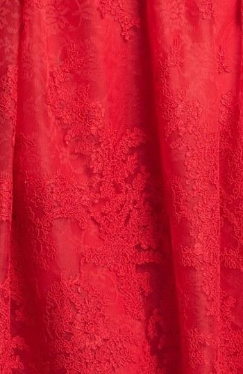 Monique Lhuillier Lace Fit & Flare Dress