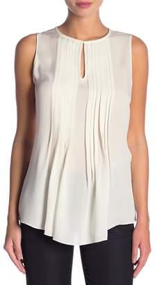 Elie Tahari Katra Pleated Silk Blouse
