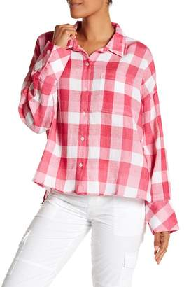 Sanctuary Mod Buffalo Plaid Boyfriend Shirt