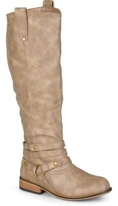 Co Brinley Women's Wide Calf Ankle-Strap Knee-High Riding Boot