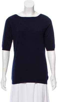 Ballantyne Cashmere Short Sleeve Knit Sweater