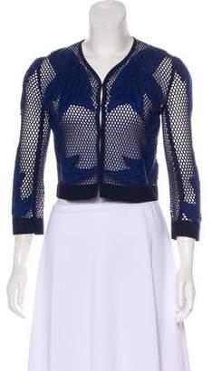 Rebecca Minkoff Long Sleeve Open-Knit Jacket