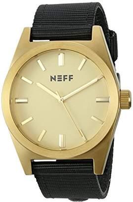 Neff Unisex NF0223GDBK Nightly Analog Display Japanese Quartz Black Watch