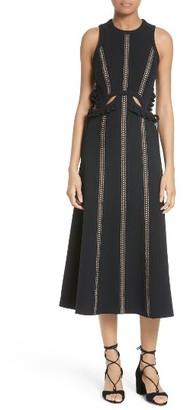 Women's Self-Portrait Cutout Midi Dress $545 thestylecure.com