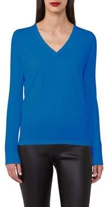 Akris Sea Island V-Neck Long-Sleeve Pullover Tunic