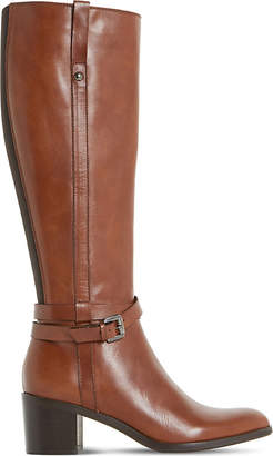 Dune Black Ladies Brown Wrap Classic Timmie Leather Knee-High Boots