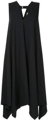 Le Ciel Bleu asymmetric V-neck dress