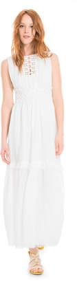 Max Studio linen crepe gauze long dress