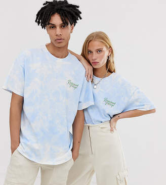 Reclaimed Vintage Unisex tie dye logo t-shirt
