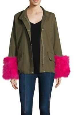 Pello Bello Turkey Feather Cotton Utility Jacket