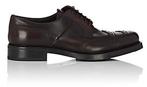 Prada Men's Leather Wingtip Bluchers - Dk. brown