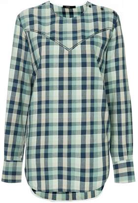 Bassike check long-sleeve shirt