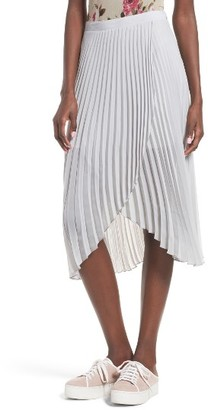 Women's Leith Asymmetrical Pleated Skirt $59 thestylecure.com