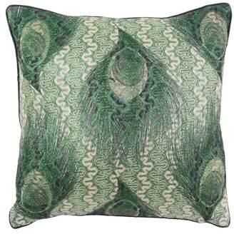 Decmode Modern 17 X 17 Inch Square Green Throw Pillow