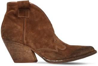 Elena Iachi 60mm Vintage Effect Leather Cowboy Boots