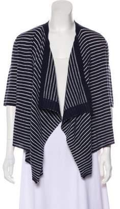 Calypso Striped Cashmere Cardigan
