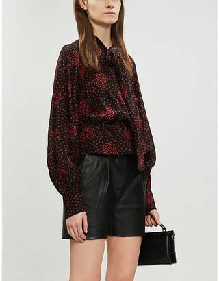 The Kooples Heart-motif silk-blend blouse