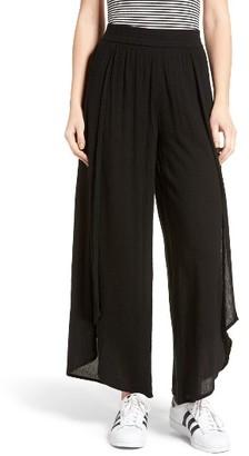 Women's Sun & Shadow Tulip Hem Wide Leg Pants $55 thestylecure.com