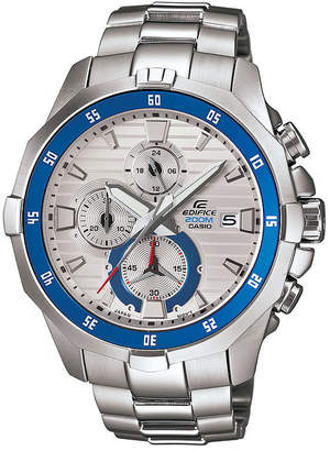 Casio Edifice Marine Mens Silver-Tone Chronograph Watch EFM502D-7A