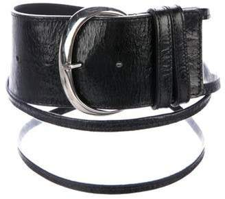 clear Anne Fontaine PVC Leather-Trimmed Belt Anne Fontaine PVC Leather-Trimmed Belt