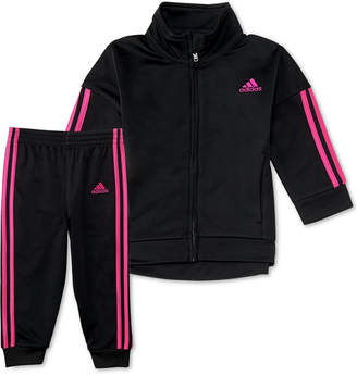 adidas Little Girls 2-Pc. Tricot Jacket & Pants Set
