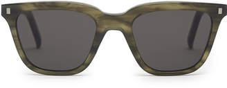 Reiss Robotnik - Monokel Eyewear D-frame Sunglasses in Khaki