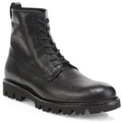 Vince Commander Leather Combat Boots