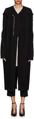 Rick Owens Women's Ribbed-Sleeve Felted Wool-Blend Coat