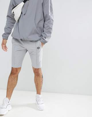 Religion Nylon Shorts In Gray With Stretch