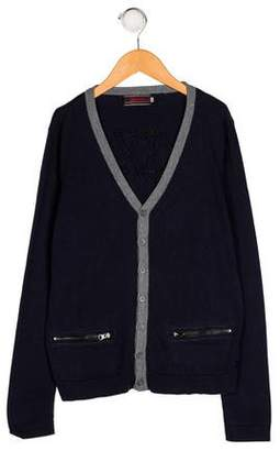 Catimini Boys' Knit Button-Up Cardigan