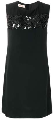Marni floral sequinned shift dress