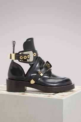 Balenciaga Ceinture flat ankle boots