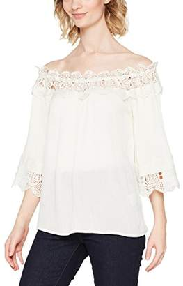 Bea Yuk Mui Cream Women's Lace Blouse