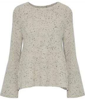 Joie Paden Marled Ribbed Wool-Blend Sweater