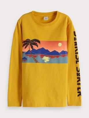 Scotch & Soda Tropical Long Sleeve T-Shirt