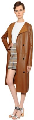 Yves Salomon Reversible Suede & Nappa Leather Coat
