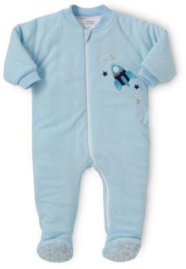 Snugtime NEW Padded Cotton Sleepsuit Blue