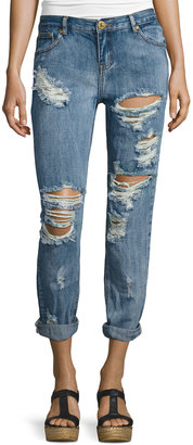 One Teaspoon Awesome Baggies Jeans, Blue Cobain $119 thestylecure.com
