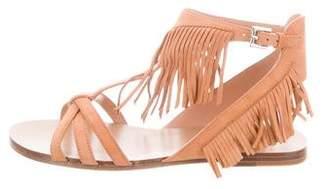 Sigerson Morrison Fringe Flat Sandals w/ Tags