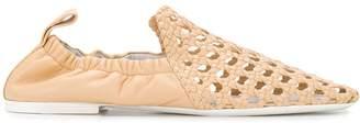 Jil Sander cut-detail woven loafers
