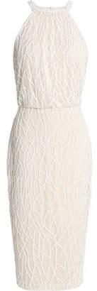 Rachel Gilbert Bead-Embellished Tulle Dress
