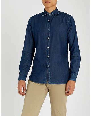 Jacob Cohen Contrast-stitched slim-fit cotton shirt