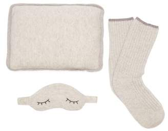 Morgan Lane - Sleepy Pillow, Socks And Eye Mask Set - Womens - Light Grey