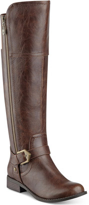 G by Guess Hailee Wide-Calf Riding Boots Women's Shoes $89 thestylecure.com