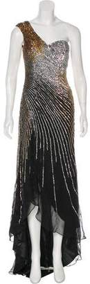 Terani Couture Sequined Silk Gown w/ Tags
