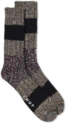CLYDE Chup By Glen Company Chup White Label Stratum Sock