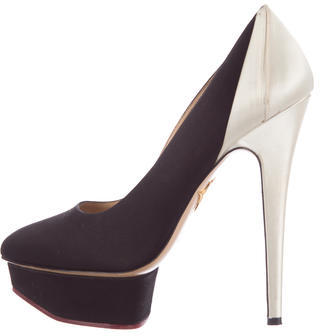 Charlotte Olympia Charlotte Olympia Satin Platform Pumps